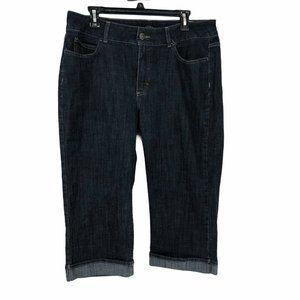 Riders Womens 14 Dark Wash Capri Jeans